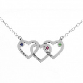 White gold pendant with three hearts