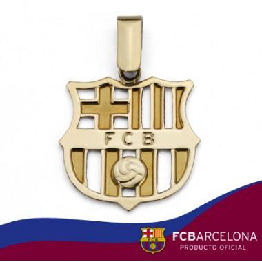 Colgante escudo Barça en oro de primera ley