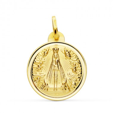 Medalla de la Virgen de Begoña de oro de 18 quilates