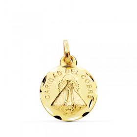 Medalla de la Virgen del Cobre de oro de 18 quilates