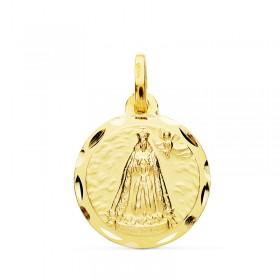 Medalla de la Virgen de Cotoca de oro de 18 quilates
