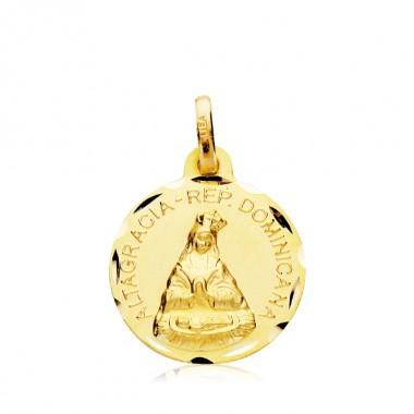 Medalla de la Virgen de la Altagracia de oro de 18 quilates