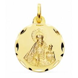 Medalla de la Virgen del Rosario de oro de 18 quilates