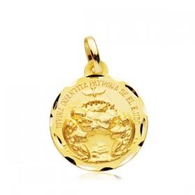 Medalla de la Divina Infantita de oro de 18 quilates