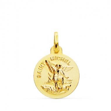 Medalla de Saint Michel de oro de 18 quilates