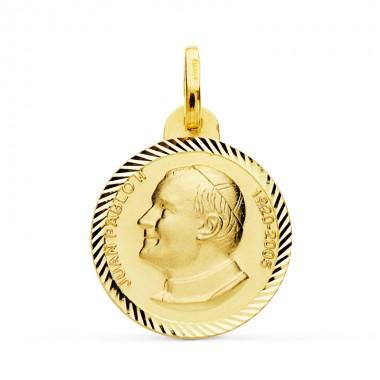 Medalla de San Juan Pablo II de oro de 18 quilates