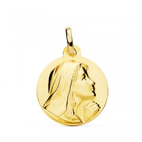 Medalla de Santa María Magdalena de oro de 18 quilates
