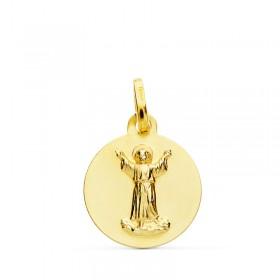 Medalla del Niño Divino Jesús de oro de 18 quilates