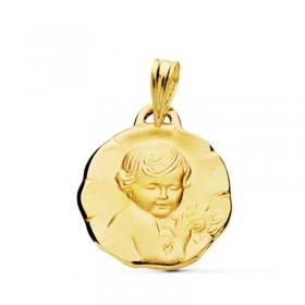 Medalla del Niño Jesús de oro de 18 quilates