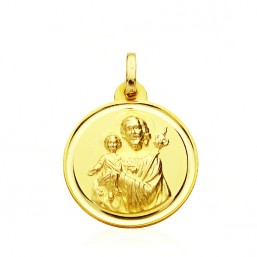 Saint Joseph medal in 18 carat gold