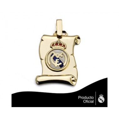 Placa pergamino con escudo Real Madrid 2,00 cm.