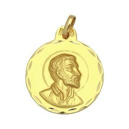 Medalla de San Francisco Javier de oro de 18 quilates