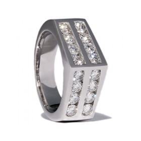 White gold wedding ring with 16 diamonds