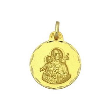 Medalla de San José de oro de 18 quilates