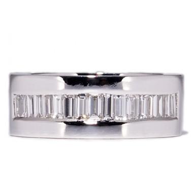 Alianzas de oro blanco 17 diamantes