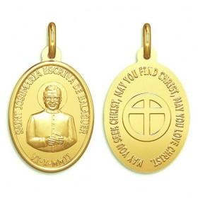 Medalla de San Josemaría Escrivá de oro de 18 quilates
