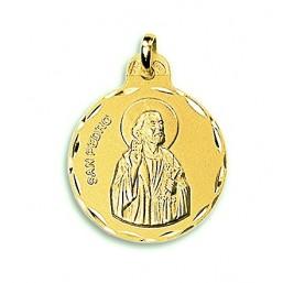 Medalla de San Pedro de oro de 18 quilates