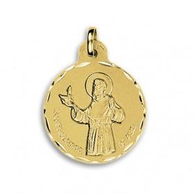 Medalla de San Francisco de Asís de oro de 18 quilates