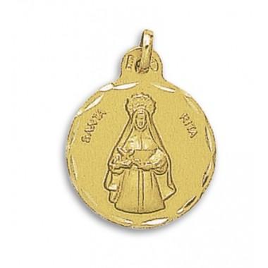 Medalla de Santa Rita de oro de 18 quilates