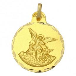 Medalla de San Miguel de oro de 18 quilates