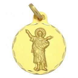 Medalla de San Pancracio de oro de 18 quilates