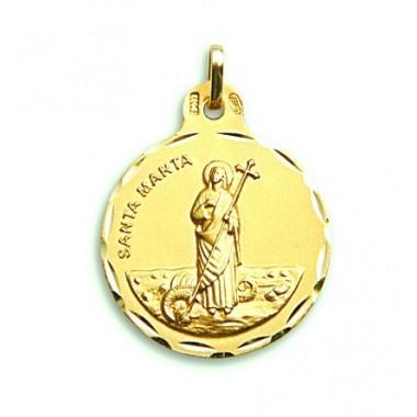 Medalla de Santa Marta de oro de 18 quilates