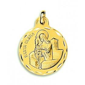 Medalla de Santa Clara de oro de 18 quilates