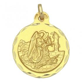 Medalla de San Gabriel de oro de 18 quilates