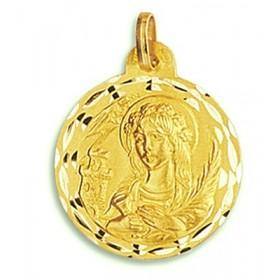 Medalla de Santa Bárbara de oro de 18 quilates