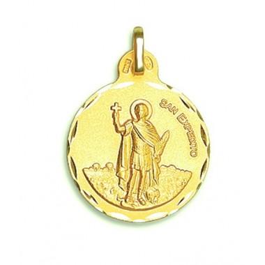 Medalla de San Expedito de oro de 18 quilates
