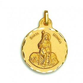 Medalla de Santa Mónica de oro de 18 quilates