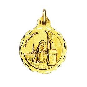 Medalla de Santa Rosa de oro de 18 quilates