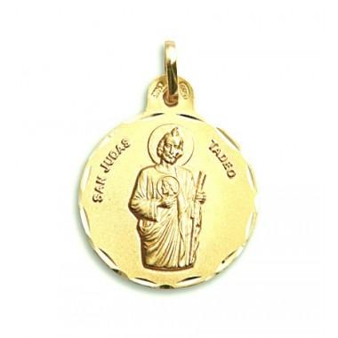 Medalla de San Judas Tadeo de oro de 18 quilates