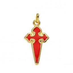 Cruz de Santiago Apóstol de oro de 18 quilates