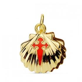 Concha de Santiago Apóstol de oro de 18 quilates