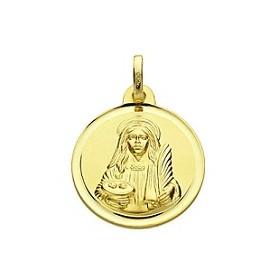 Medalla de Santa Llúcia de oro de 18 quilates