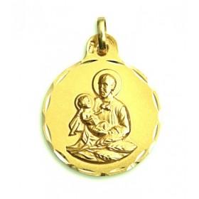 Medalla de San Cayetano de oro de 18 quilates