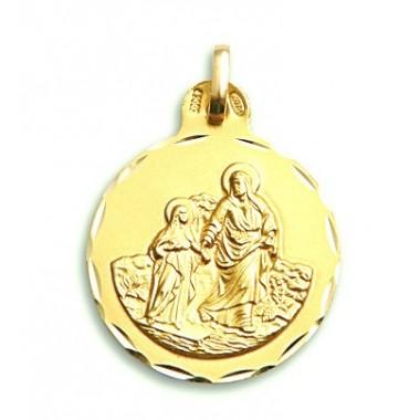Medalla de San Joaquín de oro de 18 quilates