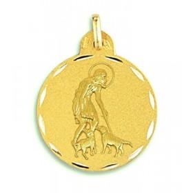 Medalla de San Lázaro de oro de 18 quilates