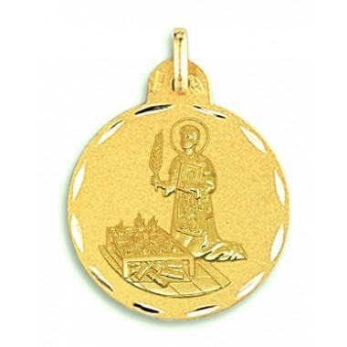 Medalla de San Lorenzo de oro de 18 quilates