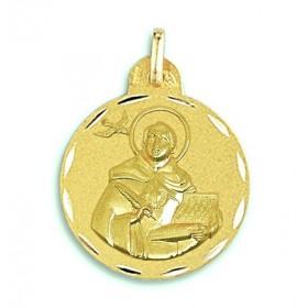 Medalla de Santo Tomás de oro de 18 quilates