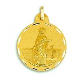 Medalla de Santa Catalina de oro de 18 quilates