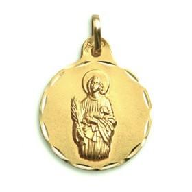 Medalla de Santa Inés de oro de 18 quilates