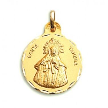 Medalla de Santa Teresa de oro de 18 quilates
