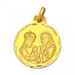 Medalla de la Sagrada Familia de oro de 18 quilates