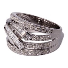 Anillos de oro blanco con 100 diamantes