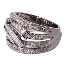 White gold rings with 100 diamonds