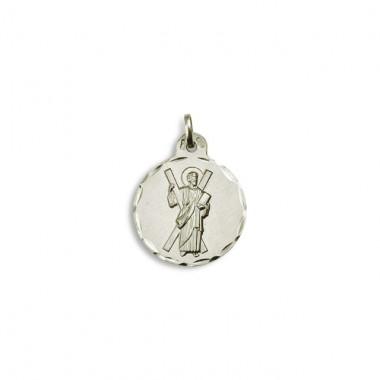 522373201d7d Medalla de San Ándres realizada en plata de primera ley.