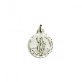 Medalla de San Expedito plata de ley