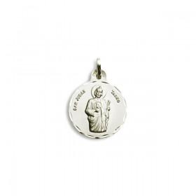 Medalla de San Judas Tadeo de plata de ley